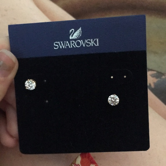Swarovski Jewelry - Diamond earrings never worn